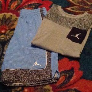 Nike Air Jordan Athletic Shorts and Shirt